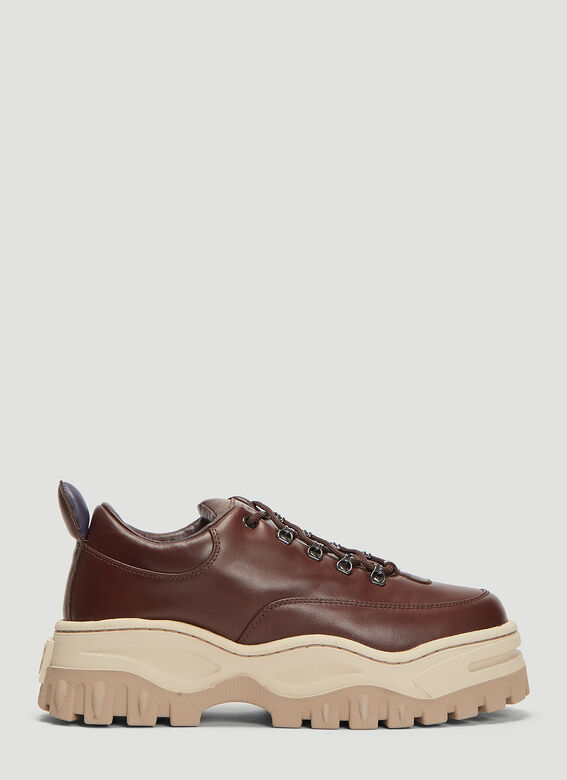 Angel Leather Sneakers In Brown by Eytys