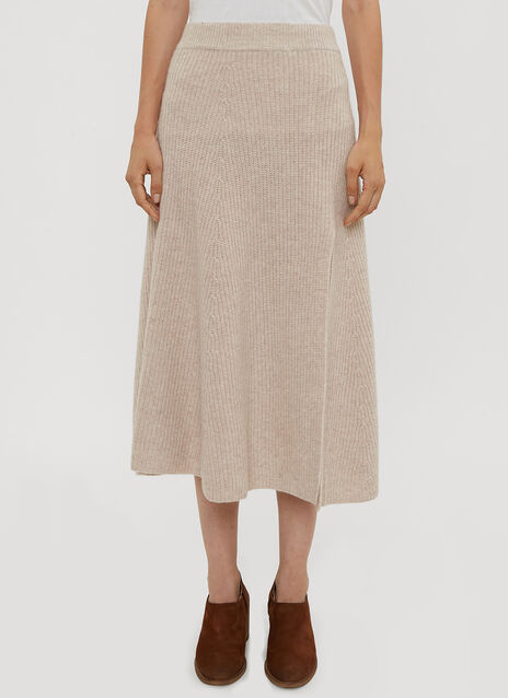 Altuzarra Cashmere Knit Side Split Skirt