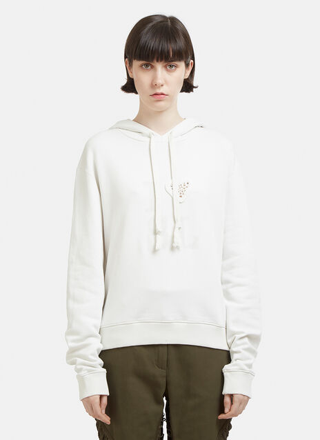 Saint Laurent Heart Hooded Sweatshirt