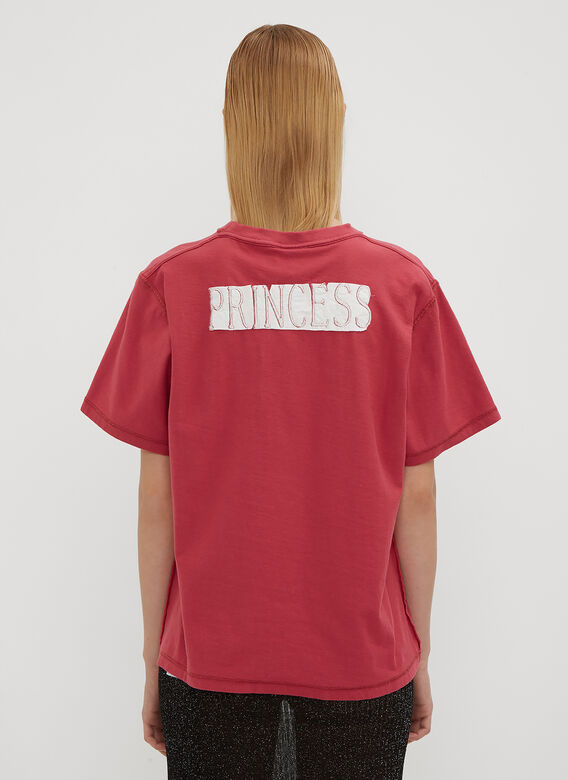 Vetements Embroidered Princess Fitted Inside Out T-Shirt