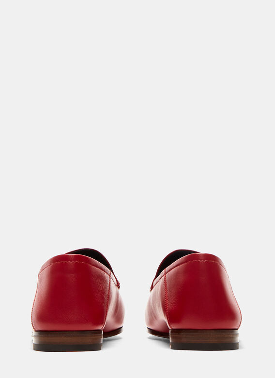 Gucci Jordaan Classic Leather Slip-On Loafers 4