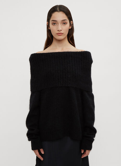 Acne Studios Cowl Neck Knit Sweater