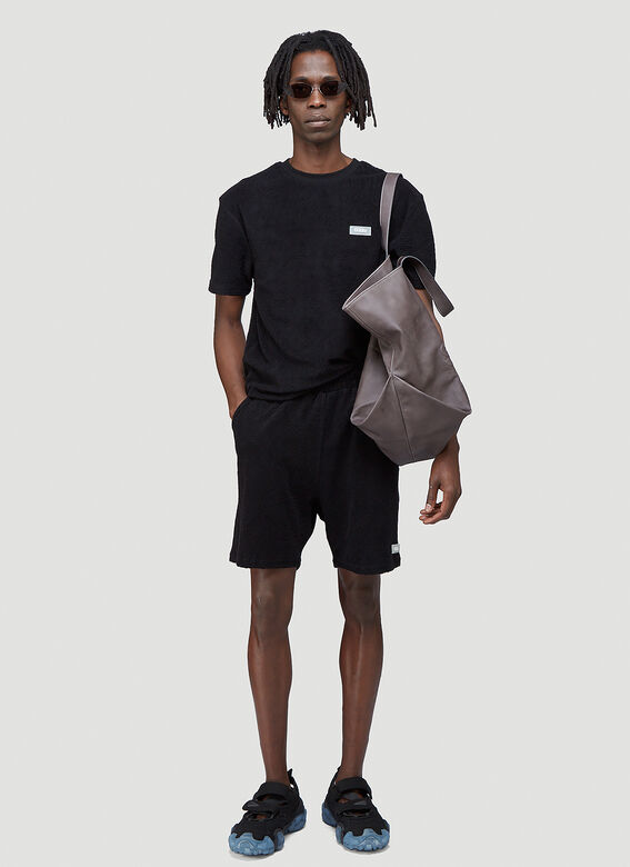 """032C """"Topos"""" Shaved Terry Shorts Black 100% CO 2"""