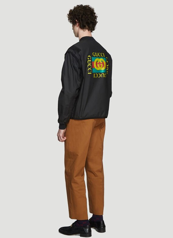 Gucci UTILITY LOGO BOMBER