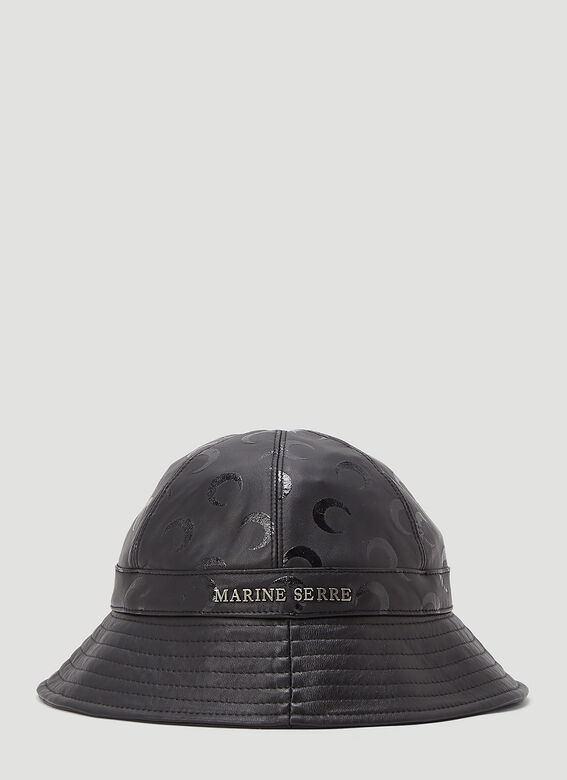 Marine Serre MOON PRINTED LEATHER BELL HAT -REGENERATED- 1