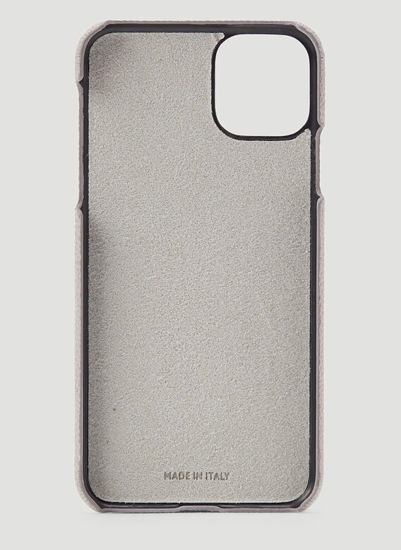 Thom Browne IPHONE 11PRO CASE W/ RWB DIAGONAL EMBROIDERY IN PEBBLE GRAIN LEATHER 2