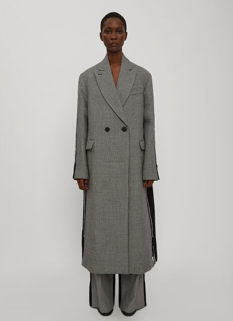 Stella McCartney Oversized Bi-Colour Coat