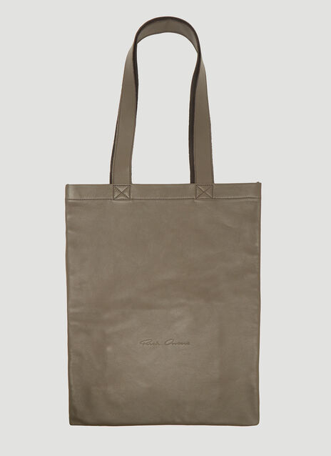 Rick Owens Small Signature Leather Tote