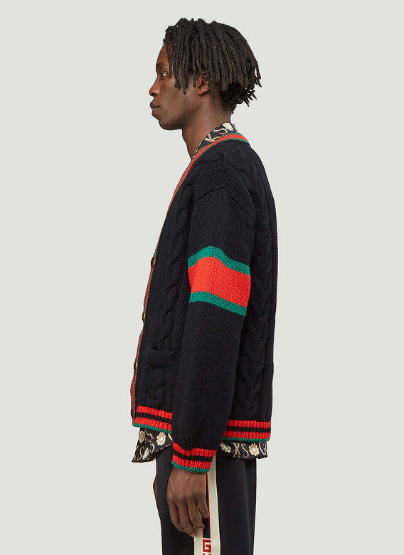 Gucci Oversized Cable-Knit Cardigan 3