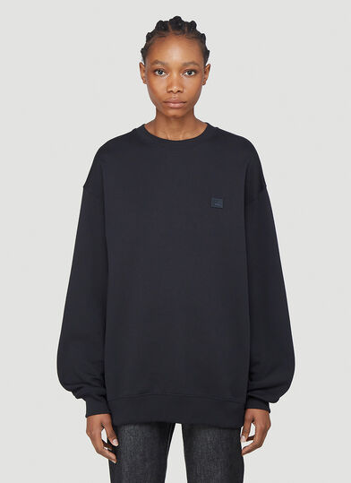 아크네 스튜디오 Acne Studios Face Patch Sweatshirt in Black