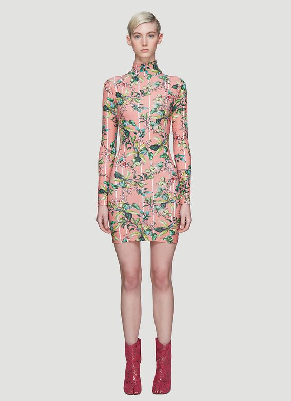 Vetements Flowers Body Dress