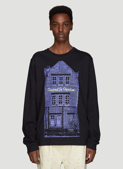 Vyner Articles Long Sleeve Trapped In Freedom T-Shirt