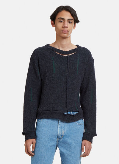 Eckhaus Latta Wiggly Road Knit Sweater