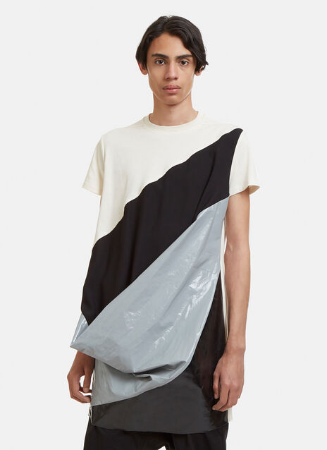 Rick Owens Superhuman Cotton Patchwork T-Shirt