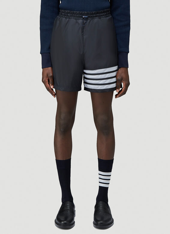 Thom Browne MID THIGH SHORTS W/ 4 BAR IN SHEER RIPSTOP 1