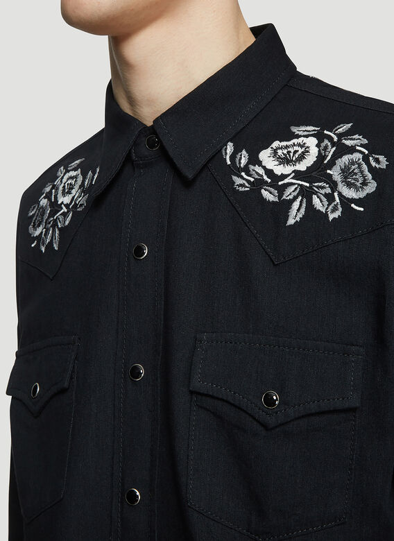 Saint laurent Embroidered Western Shirt