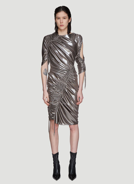 Atlein Mercury Ruched Dress