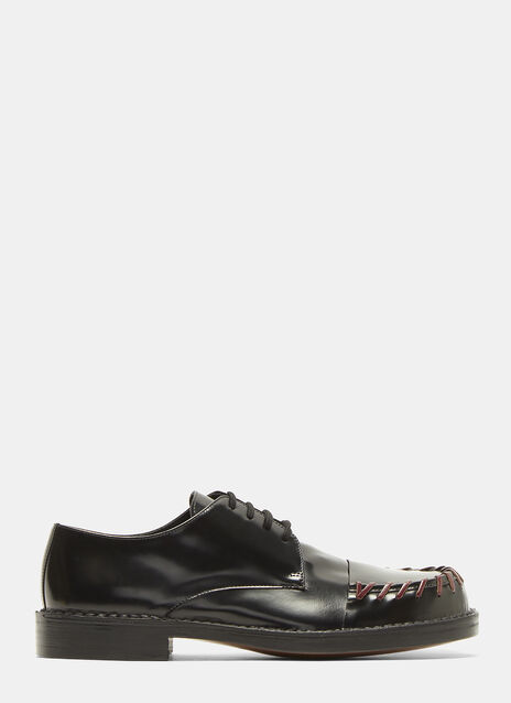 Marni Threaded Lace-Up Leather Shoes