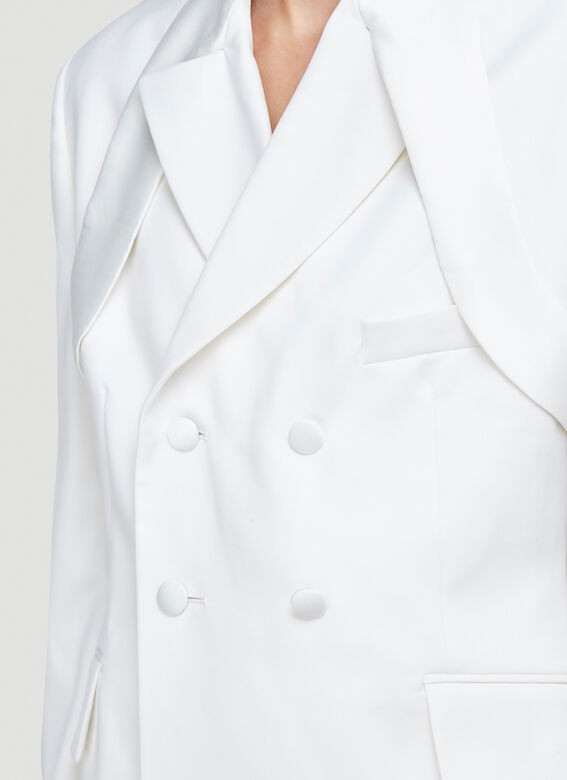 GmbH BELTED JACKET W EXTENDED TOP LAPEL 5