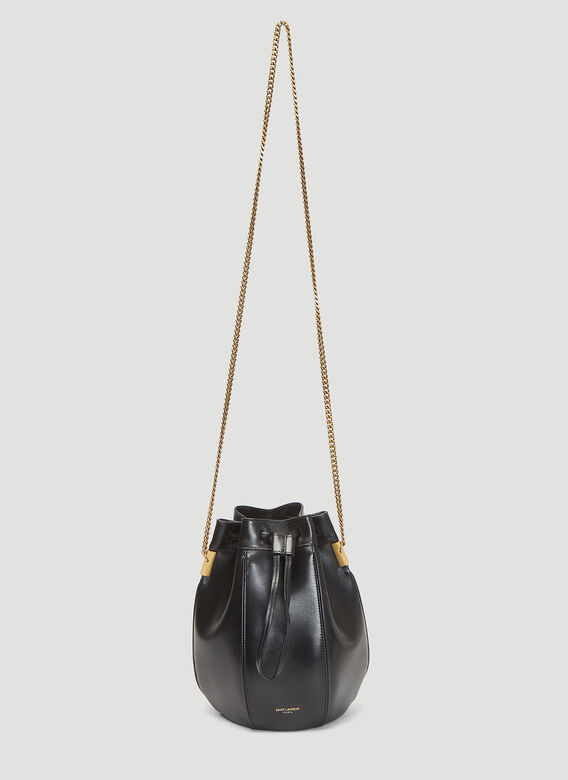 2a598fc475a1 Saint Laurent Talitha Bucket Bag in Black