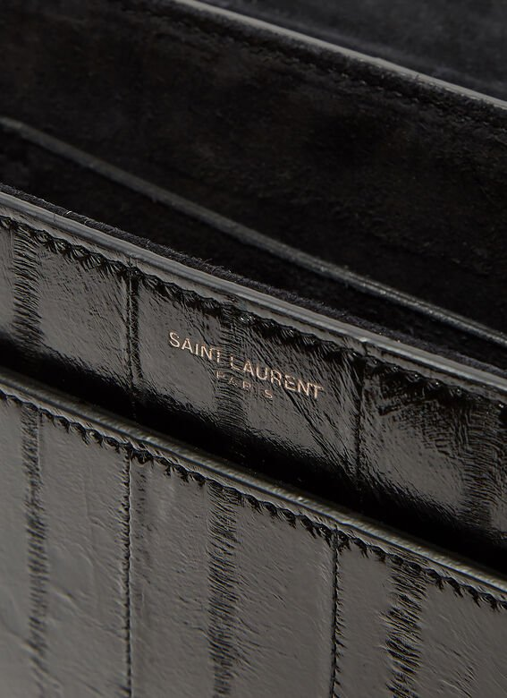 Saint Laurent Betty Satchel Eel Skin Shoulder Bag