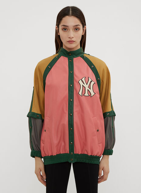 Gucci NY Yankees Leather Bomber