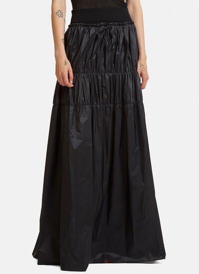 Technical Long Tiered Skirt
