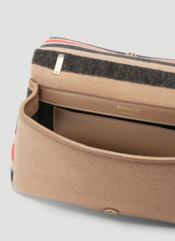 Burberry Lola Striped Wool Small Shoulder Bag 6
