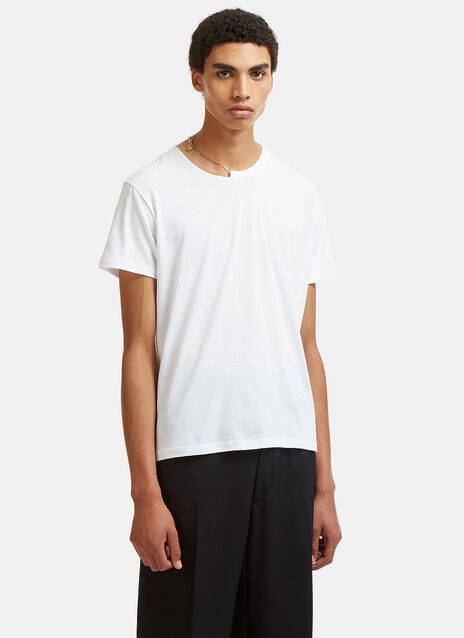 Safety Pin Chain Crew Neck T-Shirt