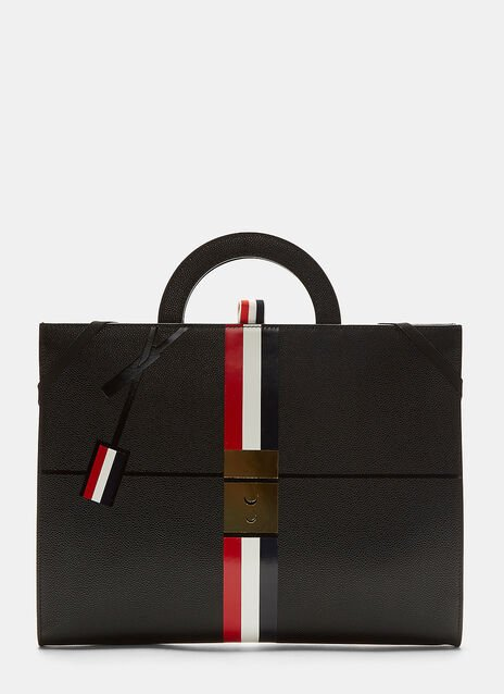Pebble Grained Zipped Briefcase