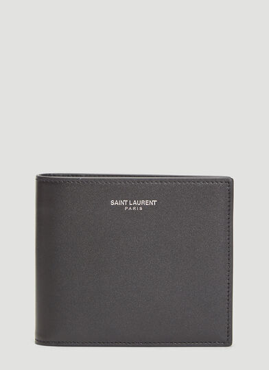 생 로랑 반지갑 Saint Laurent Bi-Fold Wallet in Black