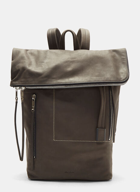 Rick Owens Medium Leather Duffle Bag