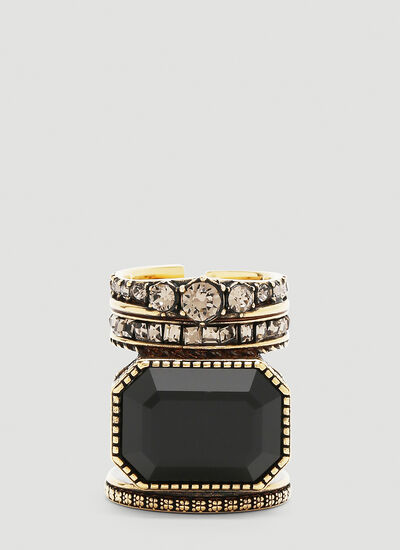 Alexander McQueen Jewel Stacked Ring