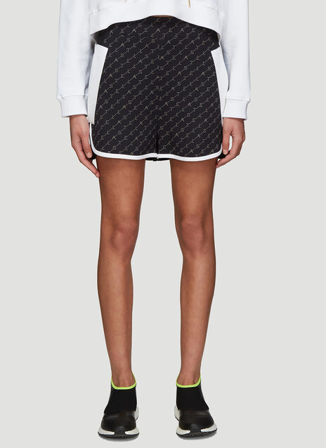 Stella McCartney Logo Print Mini Shorts