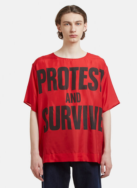 Katharine Hamnett Protest Survive Silk Top