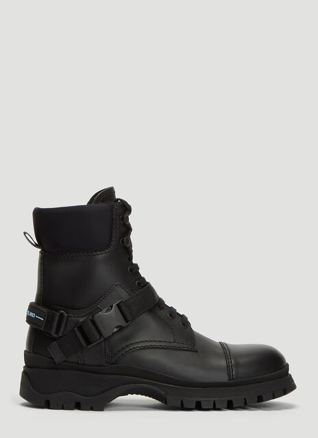Prada Leather Strap Boots