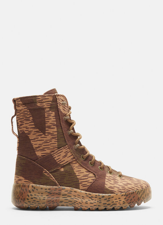 Yeezy Splinter Camo Washed Canvas Military Boots