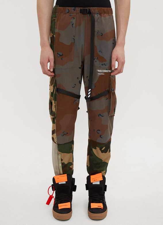 6a750477cffee Off-White Reconstructed Camo Cargo Pants | LN-CC