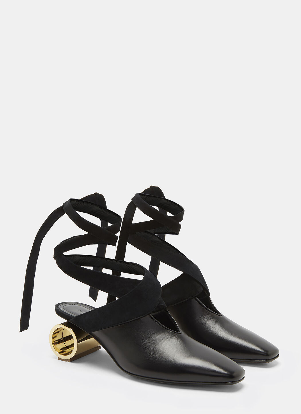 J.W.Anderson Cylinder Heeled Leather Ballerina Shoes uODwIA