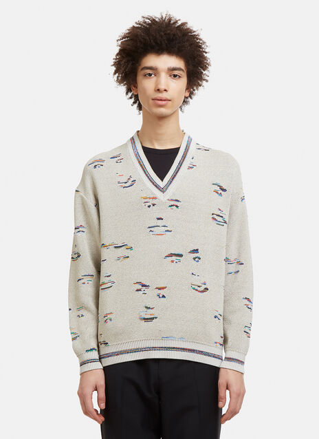 Missoni V-Neck Face Sweater