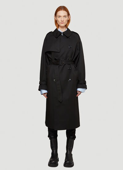 Vetements Logo-Patch Trench Coat