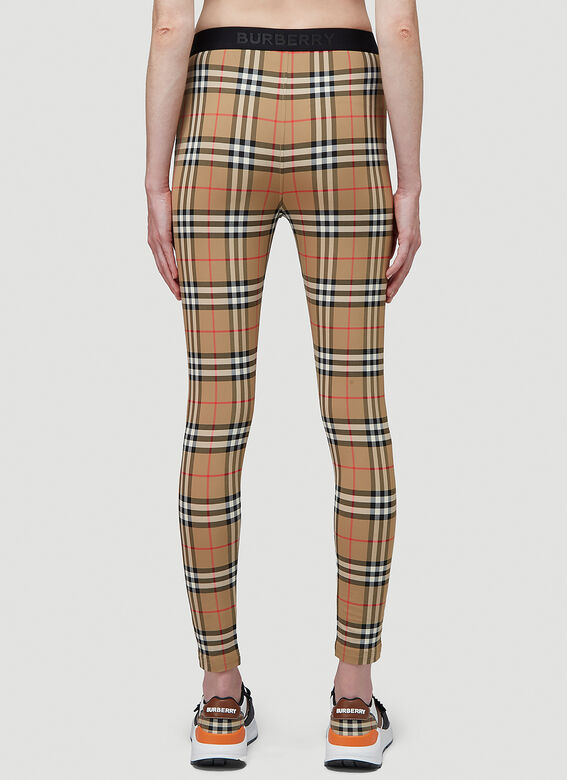 Burberry Logo Detail Vintage Check Leggings 4