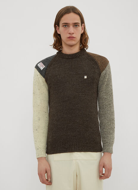 Xenia Telunts X Harris Tweed Crew Neck Knit Sweater