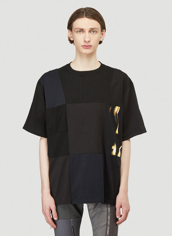 Children Of The Discordance X Sembl Patchwork T-shirt In Black