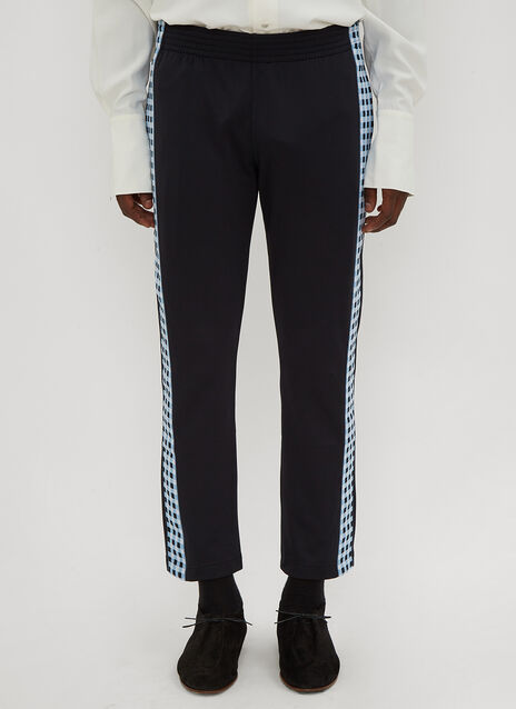 Wales Bonner Checked Side Stripe Track Pants