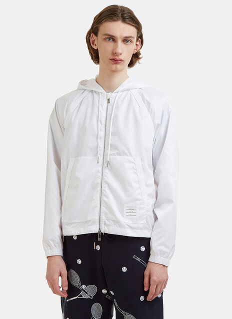 Thom Browne Zip-up Jacket in White