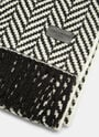 Saint Laurent Chevron Knit Fringed Scarf