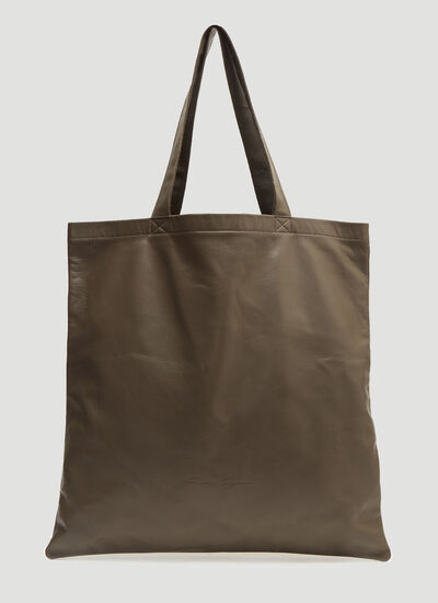 Rick Owens Large Signature Leather Tote Bag