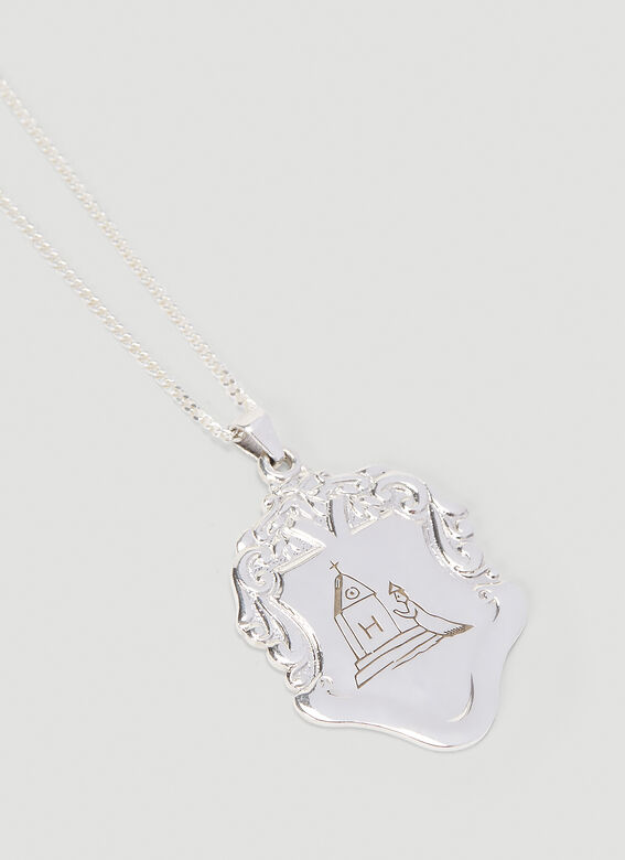 Johnny Hoxton Shield pendant with engraving - Sterling Silver 4