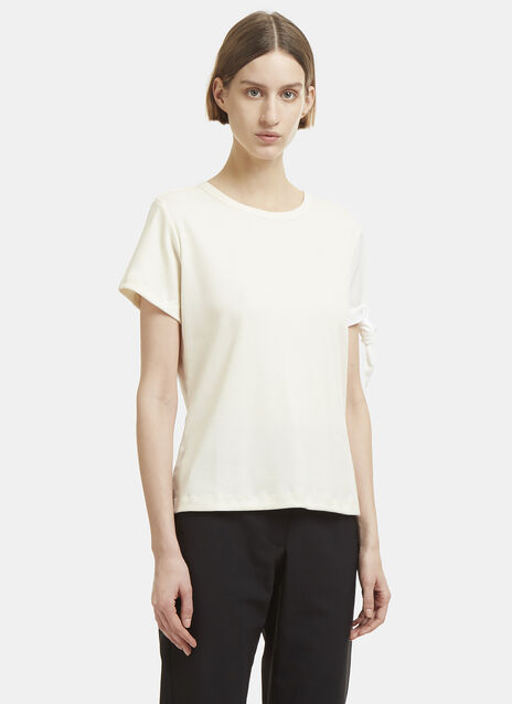 JW Anderson Single Silk Knot Ribbed T-Shirt
